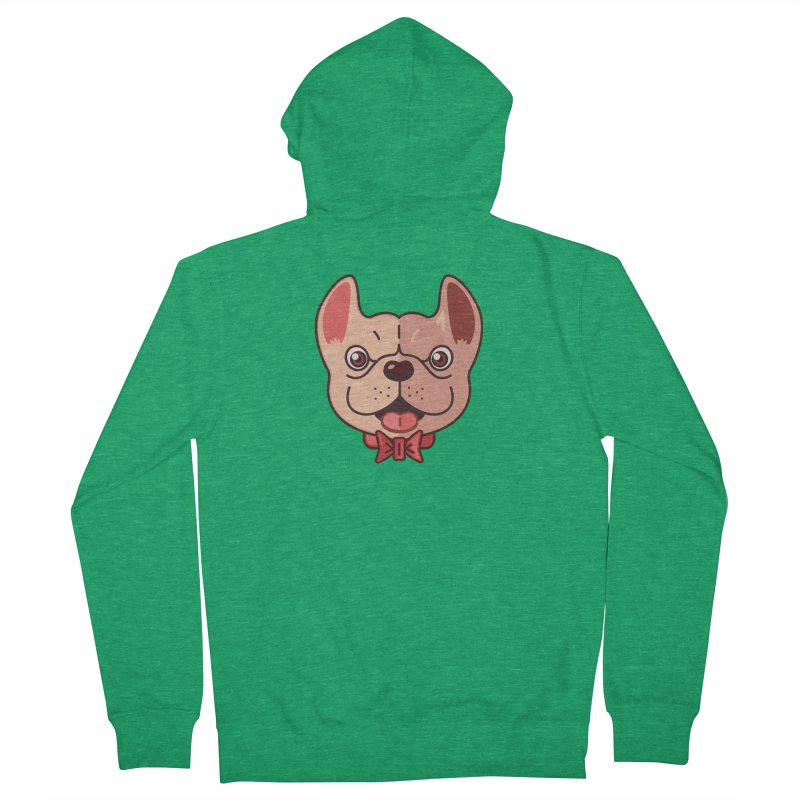 Dapper Frenchie Men's Zip-Up Hoody by foursixsix's Artist Shop