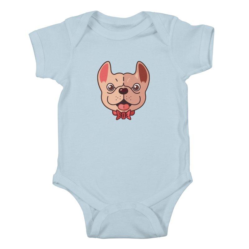 Dapper Frenchie Kids Baby Bodysuit by foursixsix's Artist Shop