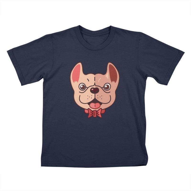 Dapper Frenchie Kids T-shirt by foursixsix's Artist Shop