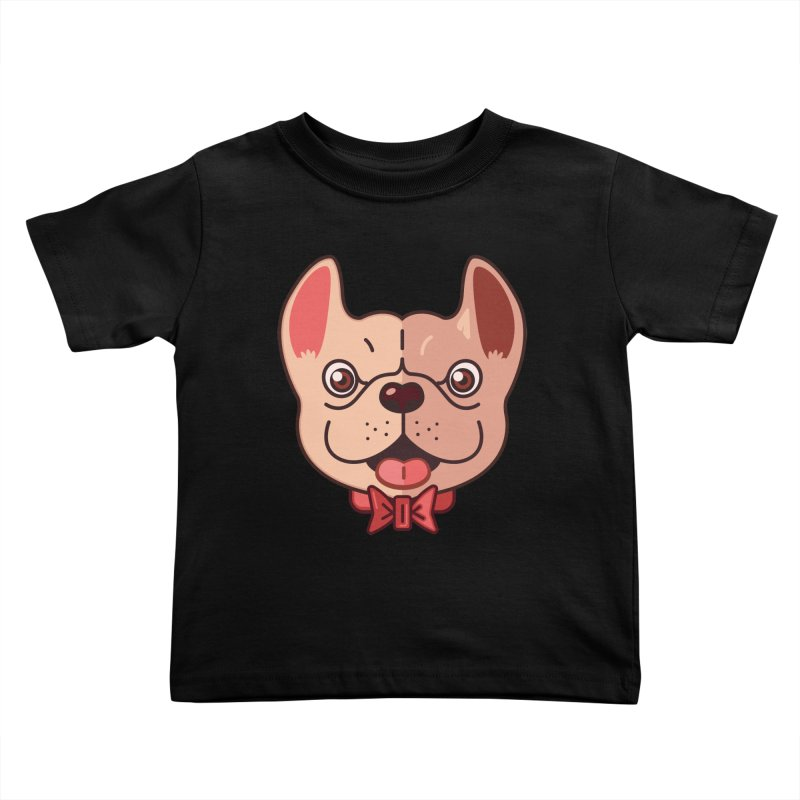 Dapper Frenchie Kids Toddler T-Shirt by foursixsix's Artist Shop