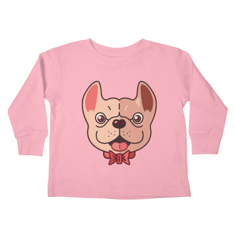 Dapper Frenchie Kids Toddler Longsleeve T-Shirt by foursixsix's Artist Shop