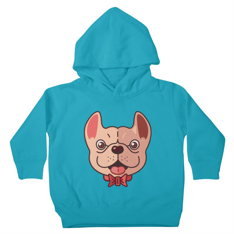 Dapper Frenchie Kids Toddler Pullover Hoody by foursixsix's Artist Shop