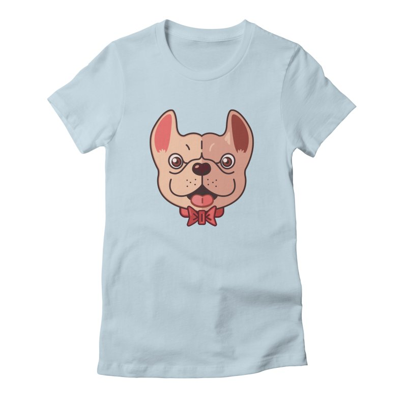 Dapper Frenchie Women's Fitted T-Shirt by foursixsix's Artist Shop