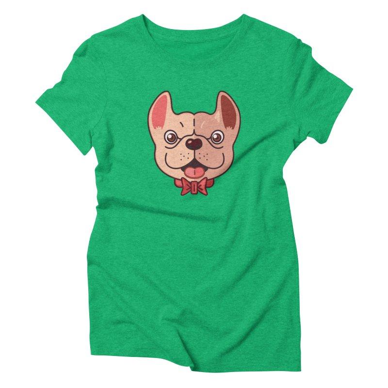 Dapper Frenchie Women's Triblend T-shirt by foursixsix's Artist Shop