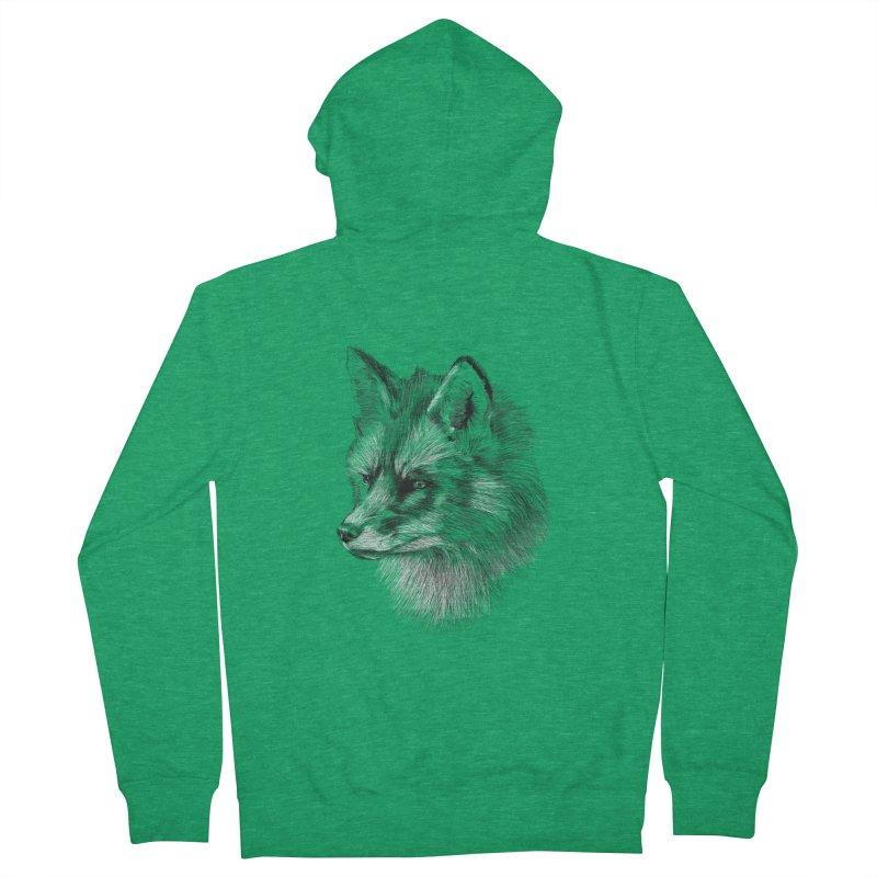 The Fox Women's Zip-Up Hoody by foxandeagle's Artist Shop