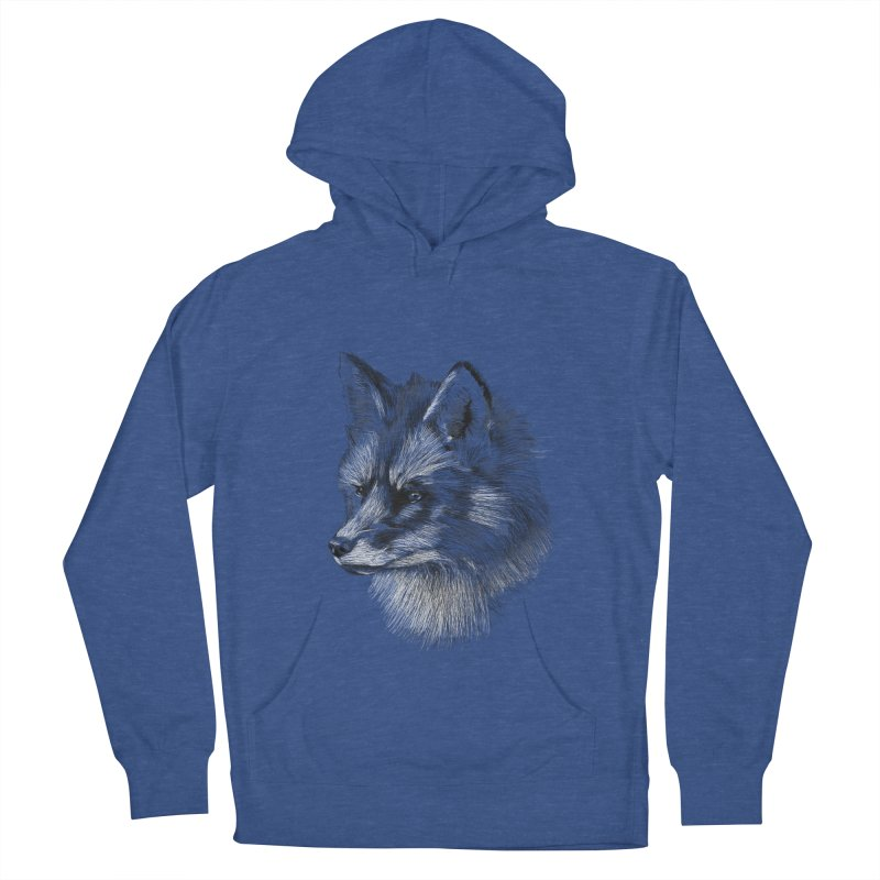 The Fox Women's French Terry Pullover Hoody by foxandeagle's Artist Shop