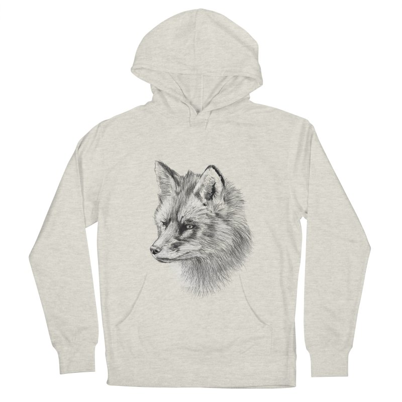 The Fox Men's French Terry Pullover Hoody by foxandeagle's Artist Shop
