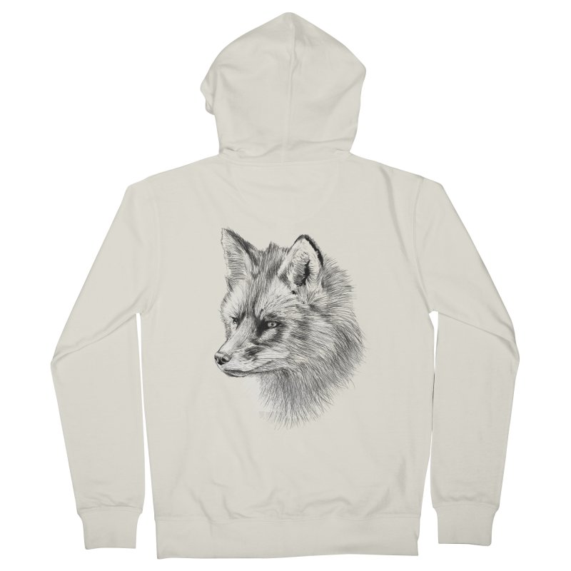 The Fox Women's Zip-Up Hoody by foxandeagle's Artist Shop