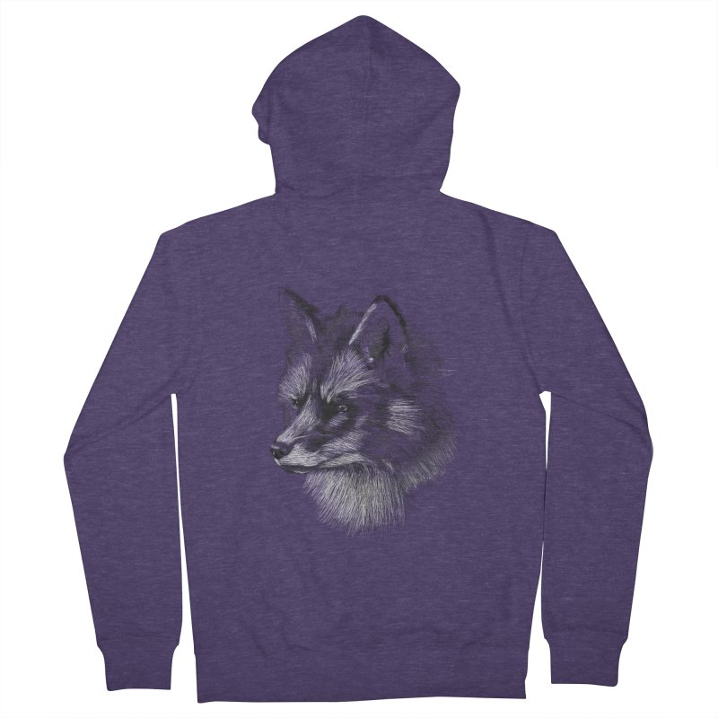 The Fox Men's Zip-Up Hoody by foxandeagle's Artist Shop