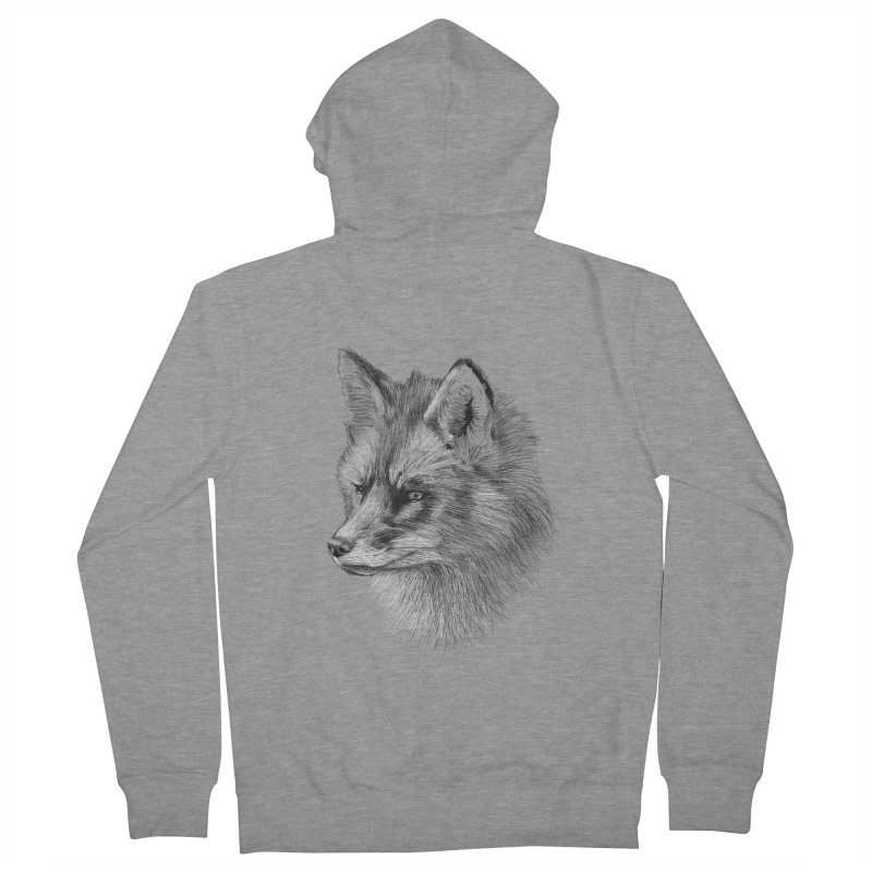 The Fox Men's French Terry Zip-Up Hoody by foxandeagle's Artist Shop