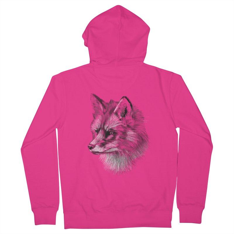 The Fox Men's Zip-Up Hoody by foxandeagle's Artist Shop