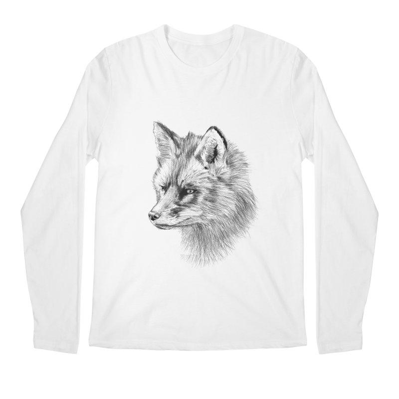 The Fox Men's Regular Longsleeve T-Shirt by foxandeagle's Artist Shop