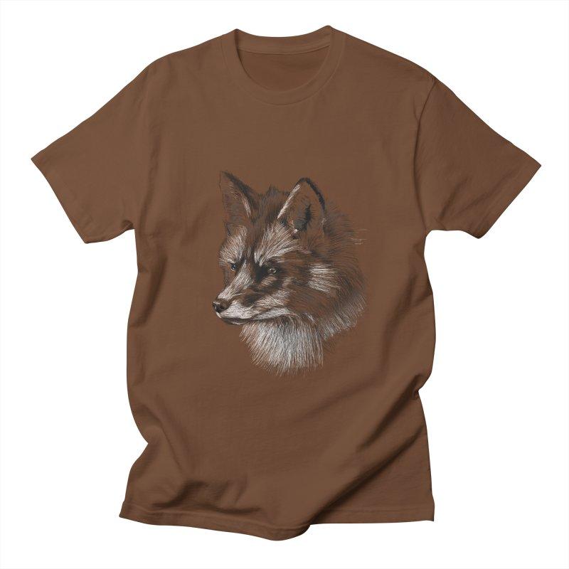 The Fox Women's Regular Unisex T-Shirt by foxandeagle's Artist Shop