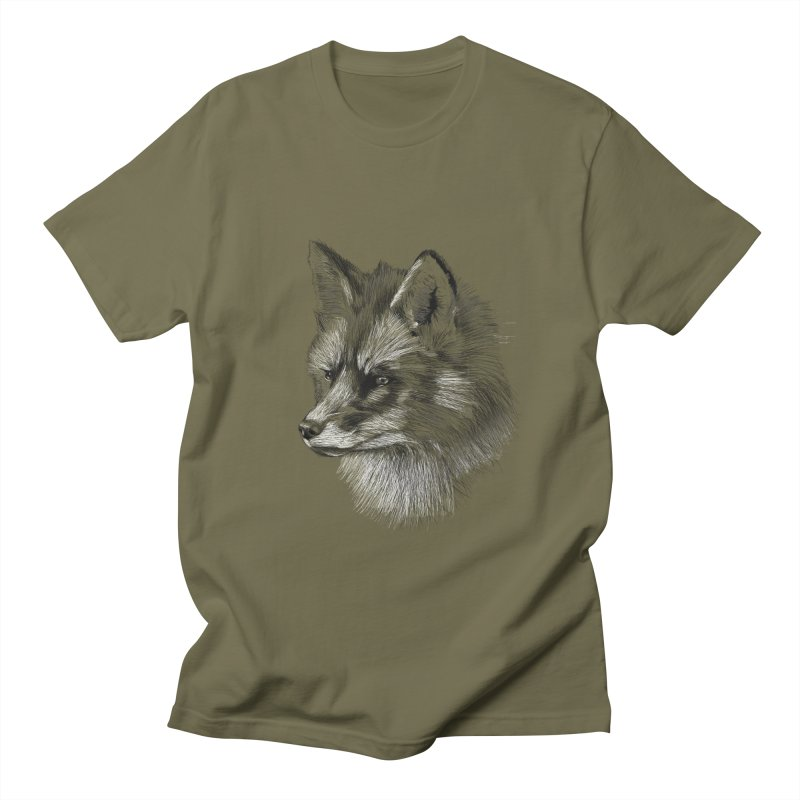 The Fox Men's Regular T-Shirt by foxandeagle's Artist Shop