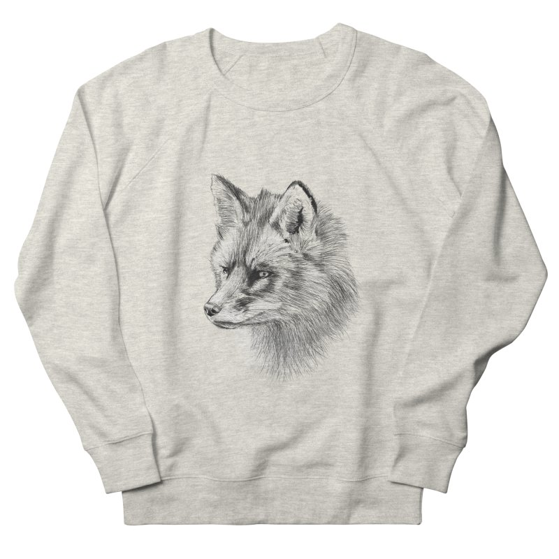 The Fox Women's French Terry Sweatshirt by foxandeagle's Artist Shop