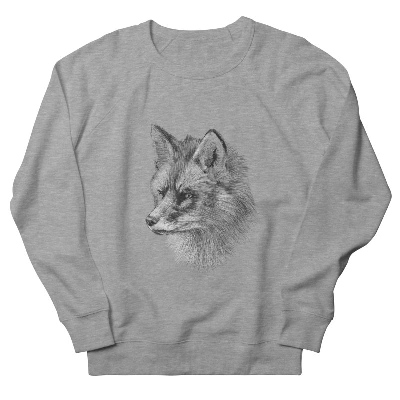 The Fox Men's French Terry Sweatshirt by foxandeagle's Artist Shop