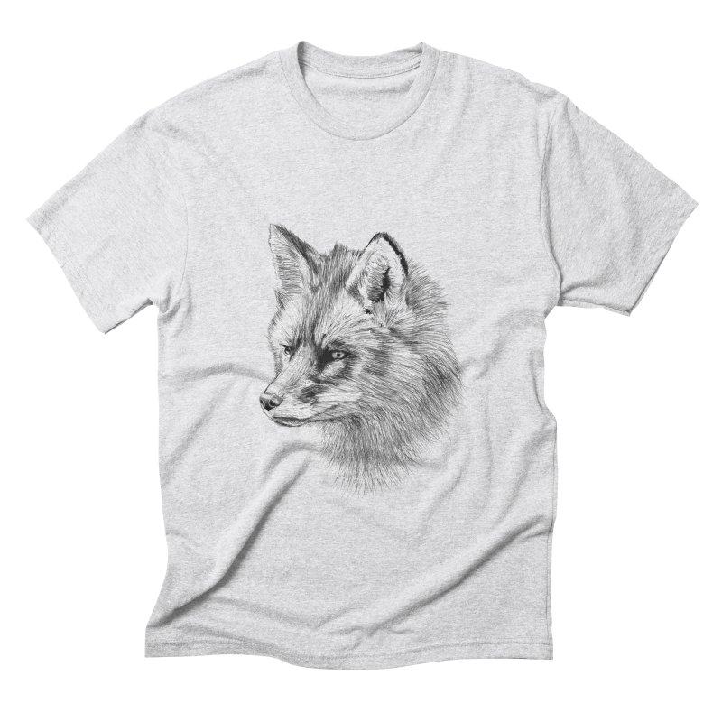 The Fox Men's Triblend T-Shirt by foxandeagle's Artist Shop