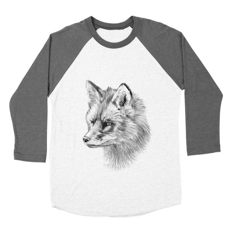 The Fox Women's Baseball Triblend Longsleeve T-Shirt by foxandeagle's Artist Shop
