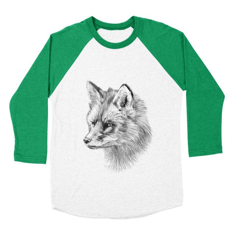 The Fox Women's Baseball Triblend T-Shirt by foxandeagle's Artist Shop
