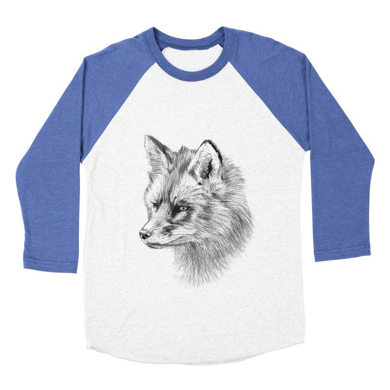 The Fox Men's Baseball Triblend Longsleeve T-Shirt by foxandeagle's Artist Shop