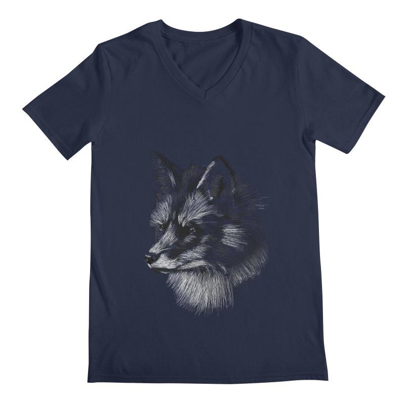 The Fox Men's V-Neck by foxandeagle's Artist Shop