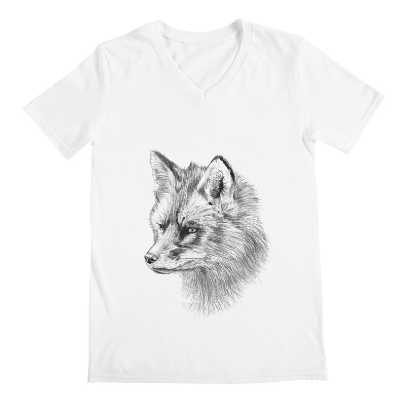 The Fox Men's V-Neck by foxandeagle's Artist Shop