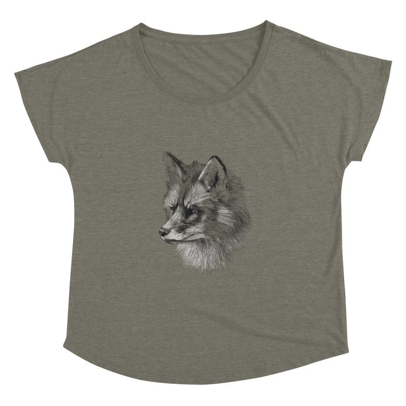 The Fox Women's Dolman Scoop Neck by foxandeagle's Artist Shop