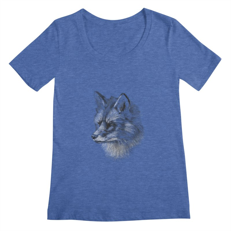 The Fox Women's Scoopneck by foxandeagle's Artist Shop
