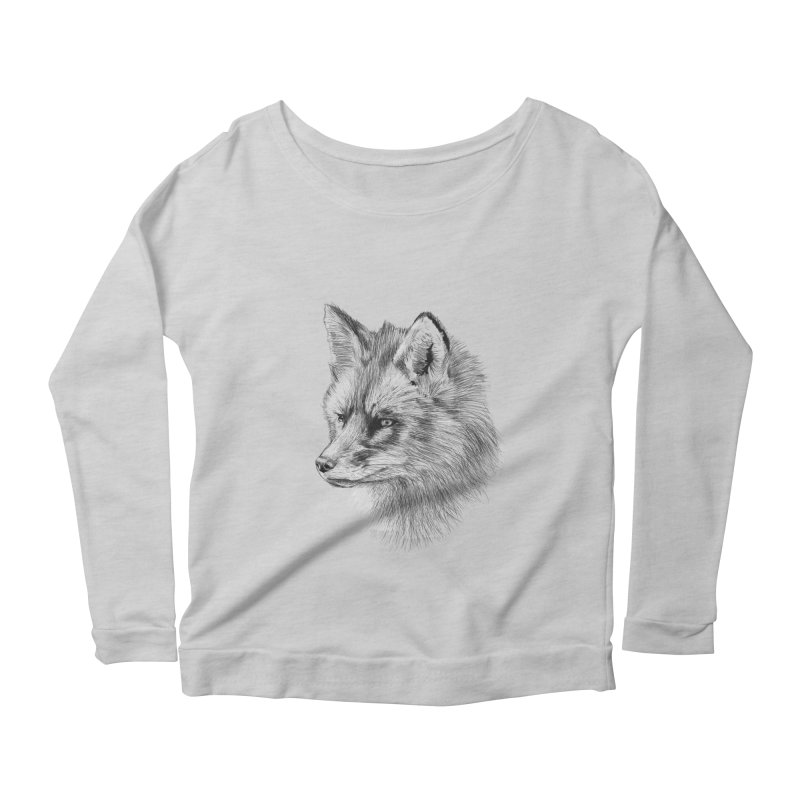 The Fox Women's Longsleeve Scoopneck  by foxandeagle's Artist Shop