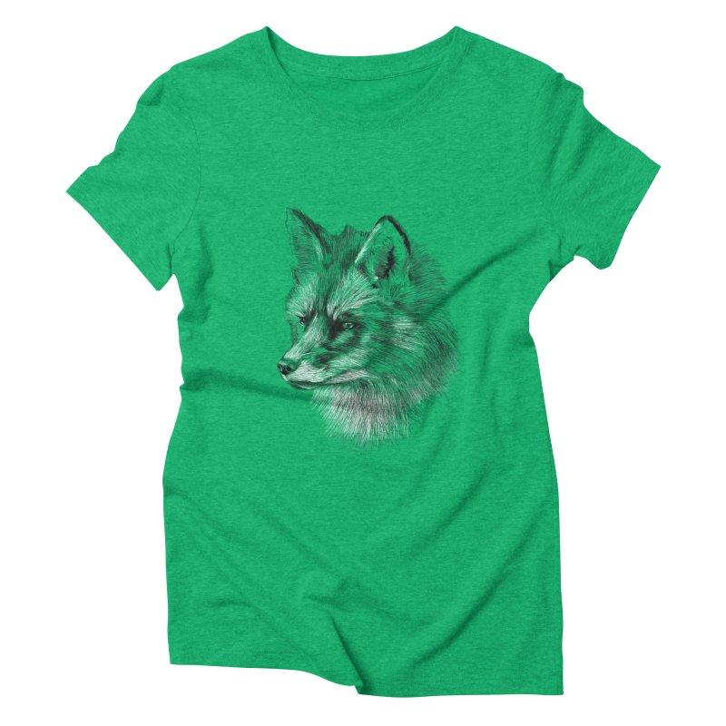 The Fox Women's Triblend T-shirt by foxandeagle's Artist Shop