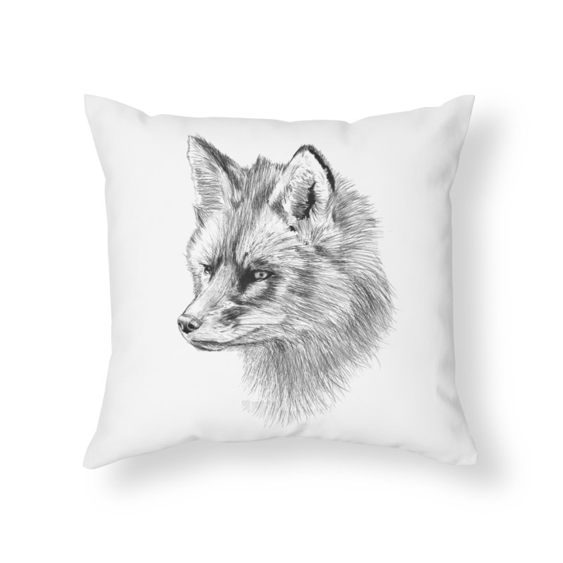 The Fox Home Throw Pillow by foxandeagle's Artist Shop