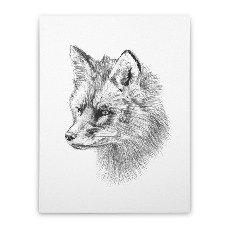 The Fox Home Stretched Canvas by foxandeagle's Artist Shop