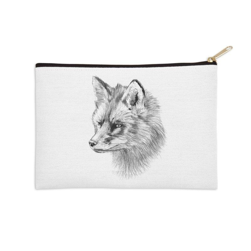 The Fox Accessories Zip Pouch by foxandeagle's Artist Shop