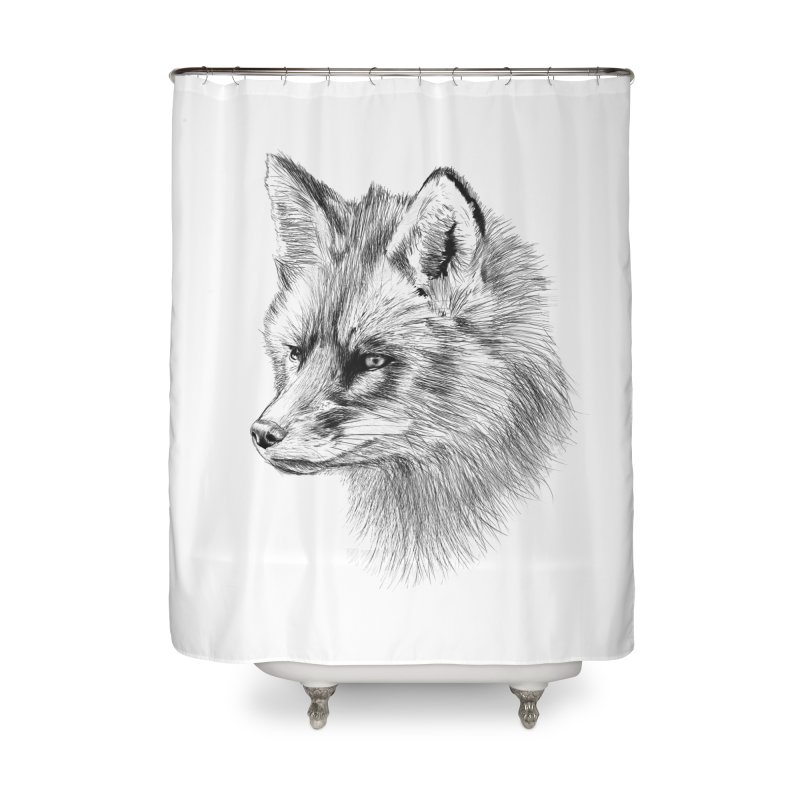 The Fox Home Shower Curtain by foxandeagle's Artist Shop