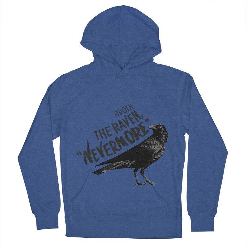 The Raven Men's French Terry Pullover Hoody by foxandeagle's Artist Shop