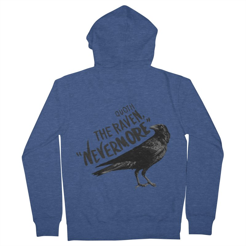 The Raven Men's French Terry Zip-Up Hoody by foxandeagle's Artist Shop