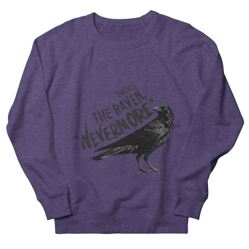 The Raven Men's French Terry Sweatshirt by foxandeagle's Artist Shop