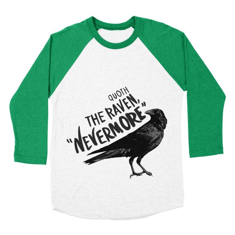 The Raven Men's Baseball Triblend T-Shirt by foxandeagle's Artist Shop