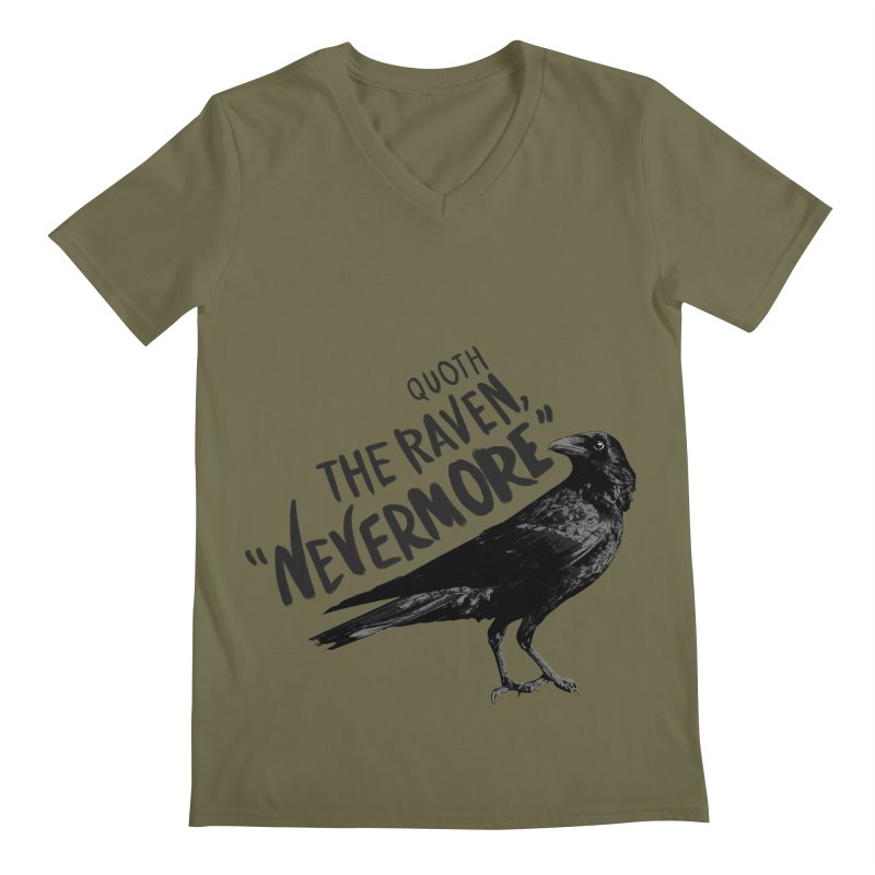 The Raven Men's Regular V-Neck by foxandeagle's Artist Shop