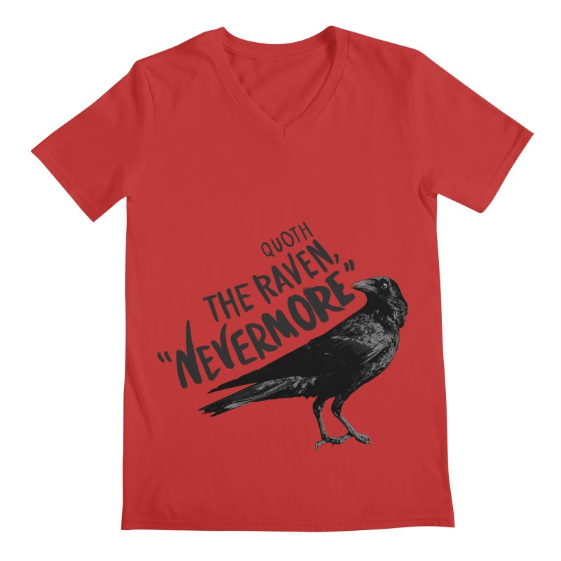 The Raven Men's Regular V-Neck by foxandeagle's Artist Shop