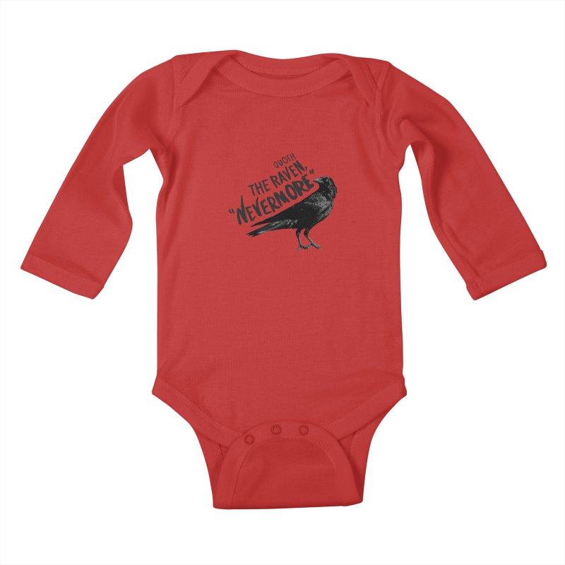 The Raven Kids Baby Longsleeve Bodysuit by foxandeagle's Artist Shop