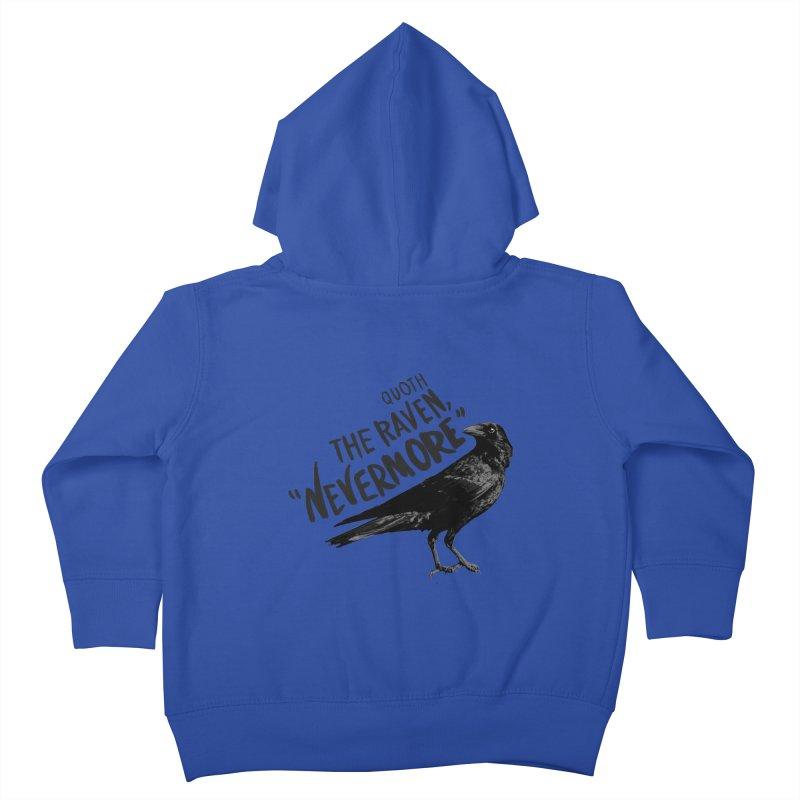 The Raven Kids Toddler Zip-Up Hoody by foxandeagle's Artist Shop