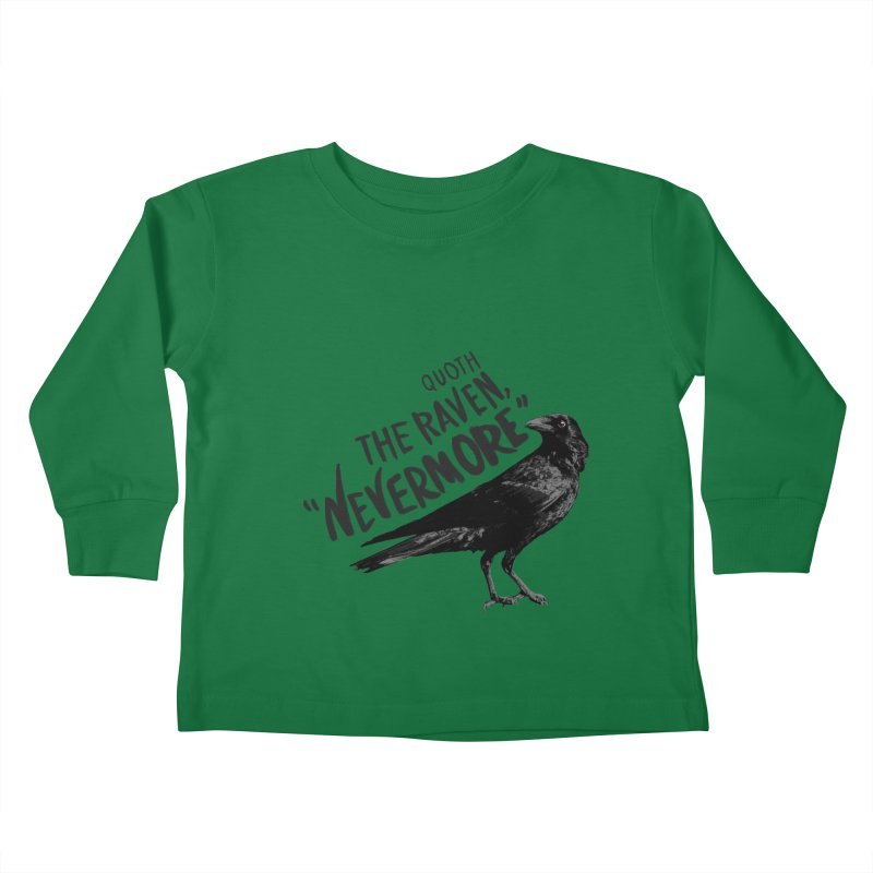 The Raven Kids Toddler Longsleeve T-Shirt by foxandeagle's Artist Shop