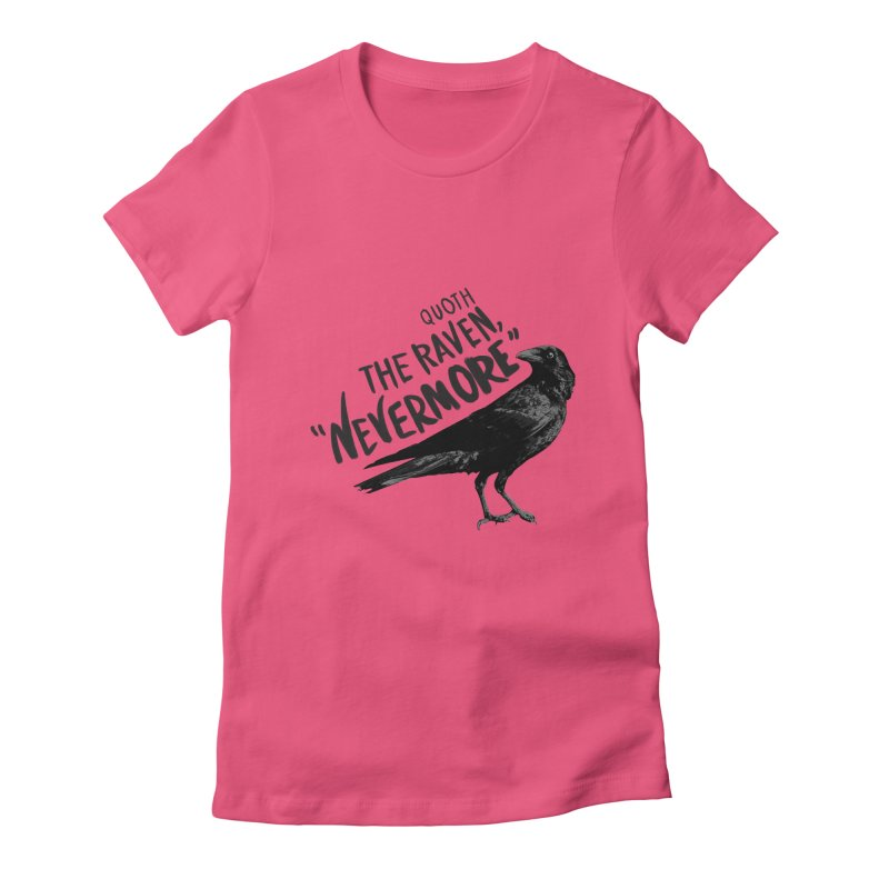 The Raven Women's Fitted T-Shirt by foxandeagle's Artist Shop