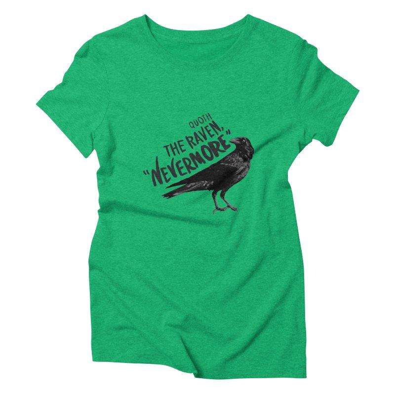 The Raven Women's Triblend T-Shirt by foxandeagle's Artist Shop