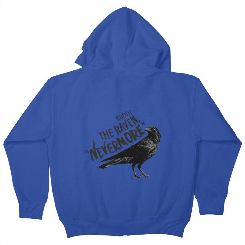 The Raven Kids Zip-Up Hoody by foxandeagle's Artist Shop