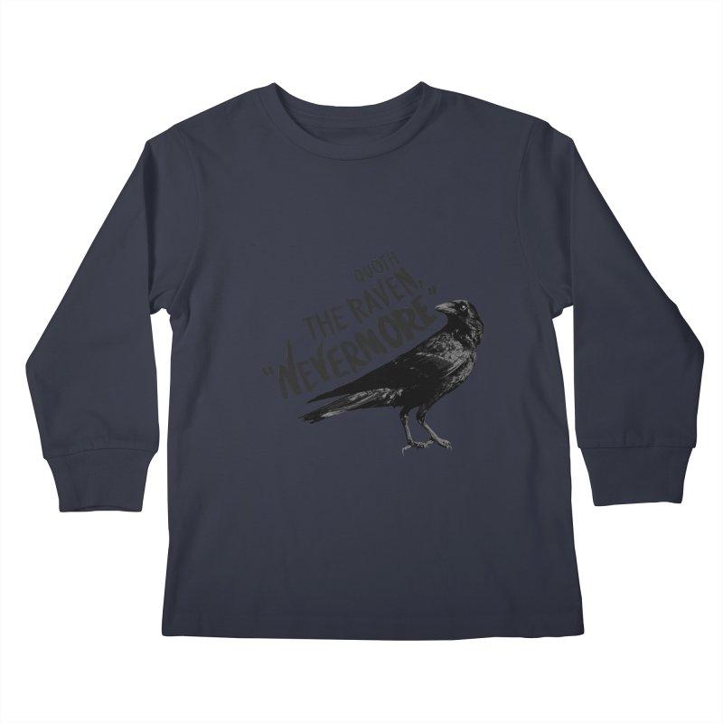 The Raven Kids Longsleeve T-Shirt by foxandeagle's Artist Shop