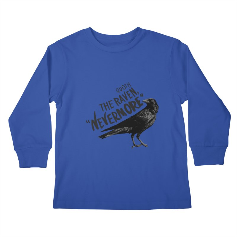 The Raven Kids Longsleeve T-Shirt by foxandeagle's Artist Shop