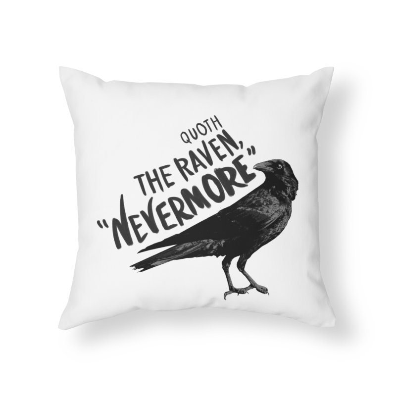 The Raven Home Throw Pillow by foxandeagle's Artist Shop