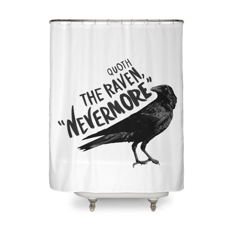 The Raven Home Shower Curtain by foxandeagle's Artist Shop